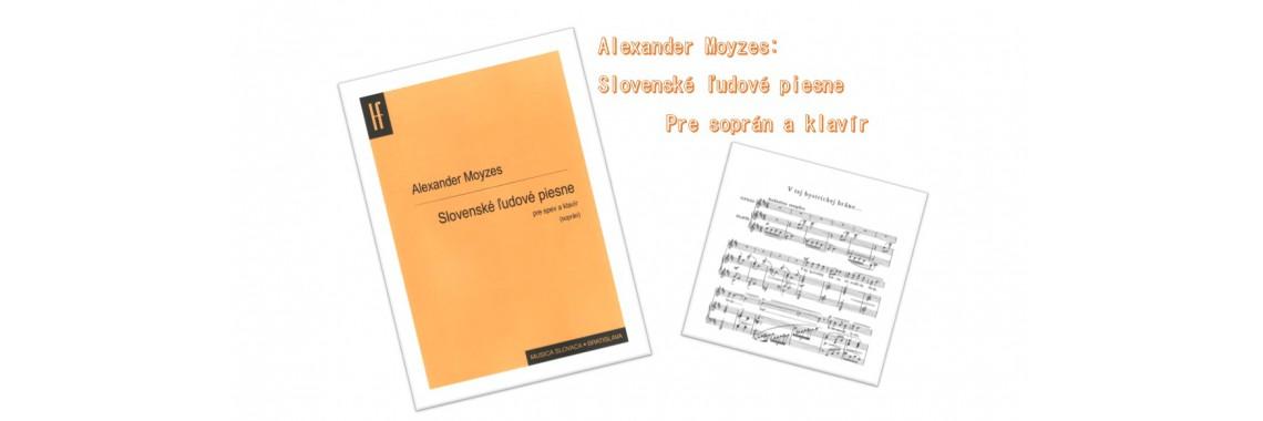 Alexander Moyzes: Slovenské ľudové piesne pre spev a klavír