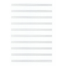notový papier A4-10