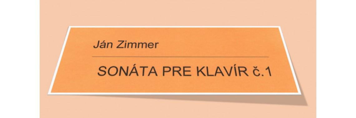 Zimmer: Sonáta pre klavír č.1