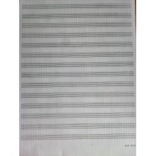notový papier B4-14