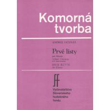 Andrej Očenáš: Prvé listy pre klavír