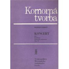 Dezider Kardoš: Koncert pre kvinteto fúkacích nástrojov; op. 47