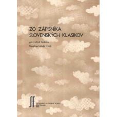Zo zápisníka slovenských klasikov