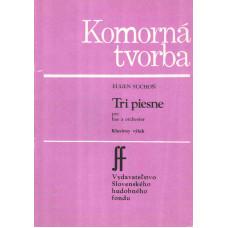 Eugen Suchoň: Tri piesne pre bas a orchester (klavír)